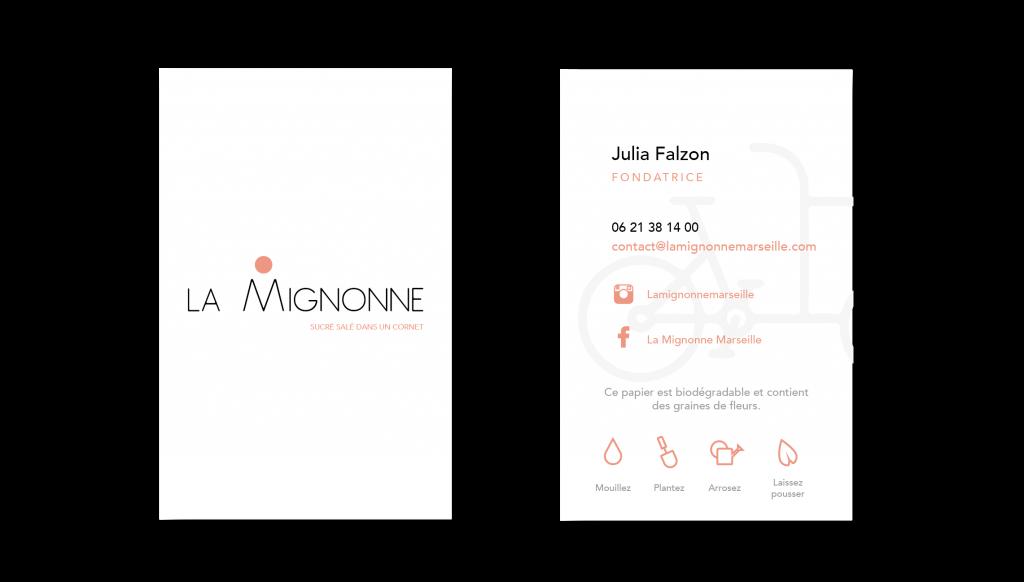 Les cartes de visites avec le nouveau logo créé par l'agence de communication Bolectif Marseille