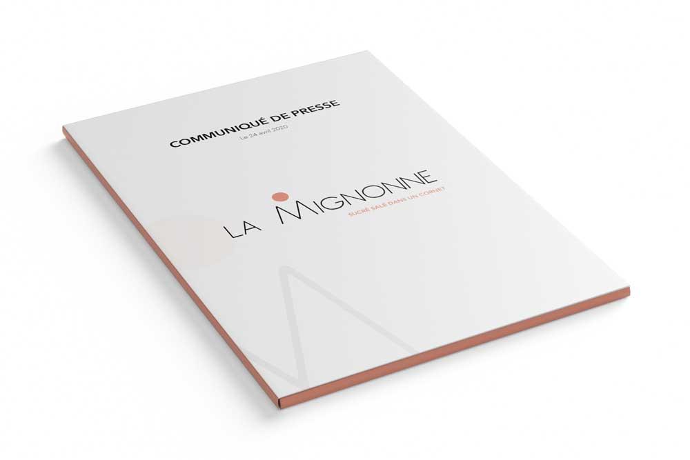Création d'un communiqué de presse par l'agence de communication globale Bolectif pour la Mignonne Marseille