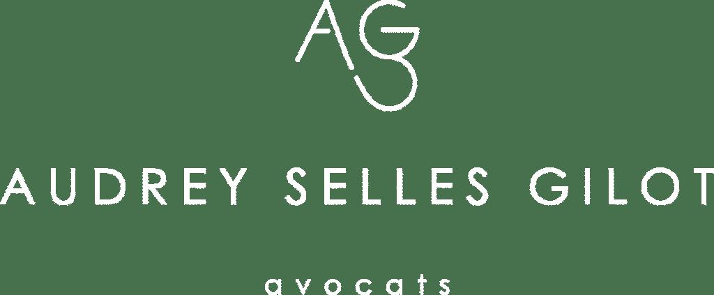 Le nouveau logo en version blanche d'ASG avocats à Marseille.