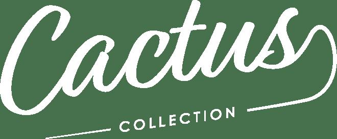 Le logo blanc de Cactus Collection pour qui Bolectif a créé un site internet automobile